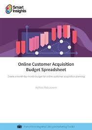 online customer acquisition budget spreadsheet smart insights