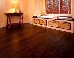 heritage wide plank flooring pine transitional bathroom