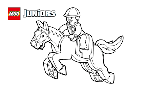 lego juniors pony ride coloring page coloring pages lego