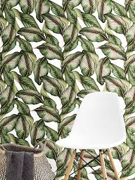 Easy Removable Wallpaper by Botanical Leaf Wallpaper Removable Self Adhesive Easy To