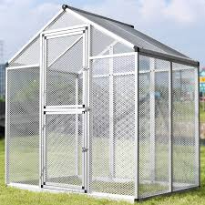 large gentle animals house aluminum bird cage pet poultry walk in