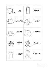 memory clothes clothes memory worksheet free esl printable worksheets made
