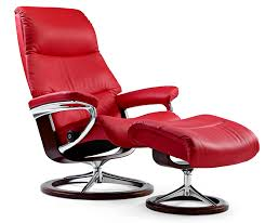 Recliner Chair With Ottoman Ekornes Stressless View Medium Leather Recliner And Ottoman
