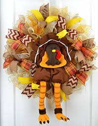 thanksgiving turkey wreath fall deco mesh wreath