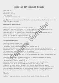 Teacher Assistant Resume Sample Special Educator Resume Template