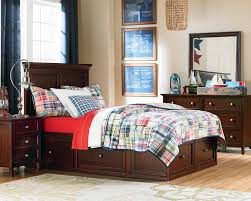 Twin Bed Spencer Storage Bed With 4 Underbed Storage Drawers Hom
