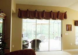 curtains for glass doors window valances above sliding doors enchanting window treatments