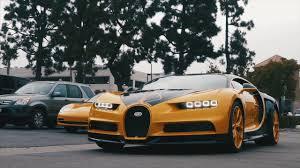 yellow bugatti the bugatti chiron hellbee at moulin newport beach youtube
