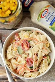 easy summer pasta salad recipe with kraft dressing this is so