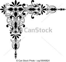 vector of decorative corner ornament decorative corner ornament