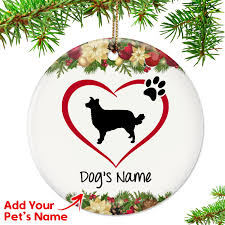 i my border collie ornament top pet gifts
