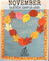 a november bulletin board it also includes 3 free leaf