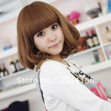 wigs short hairstyles round face wig short hair qi bangs bobo head short straight hair wig bobo