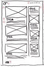 wireframe sketch 2 column archetyped