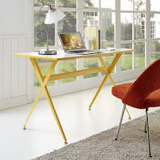 Overstock Home Office Desk by Amazon Com Modway Expound Desk In Yellow Kitchen U0026 Dining