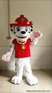 paw patrol marshall mascot costume cartoon character mascot