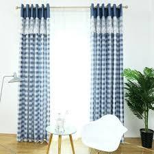White Curtains With Blue Trim White And Blue Curtains Mostafiz Me