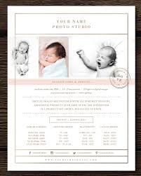 newborn photographer pricing guide flyer templates creative market