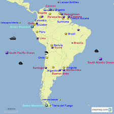 south american countries and capitals map free here