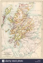 Map Scotland Scotland Map Stock Photos U0026 Scotland Map Stock Images Alamy