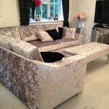 Corner Sofa Velvet Crushed Velvet Sofa Living Room Best Livingroom 2017