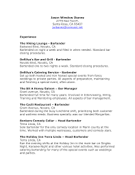 Bartender Duties And Responsibilities Resume Stunning Bartender Server Resume Gallery Simple Resume Office