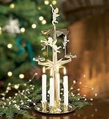 spinning chimes candle holder in brass home