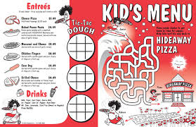 kids menu templates payment received form