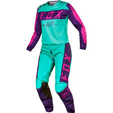 fox helmets motocross fox 2017 mx new 180 purple pink seafoam jersey pants womens