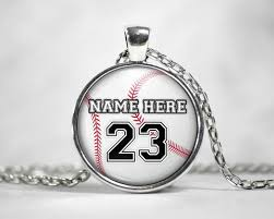 personalized photo pendant necklace personalized custom made baseball necklace pendant