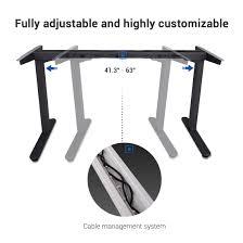 Adjustable Height Standing Desk by Standing Desk Frames Flexispot