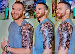 half sleeve koi fish tattoo design for men tattoos book 65 000