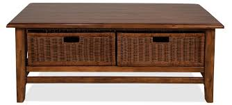coffee table with wicker storage baskets coffee addicts