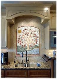 kitchen sink backsplash moasic tile sink beautiful way to accent sink that s