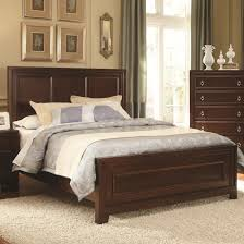 Wooden Bed Rectangle Dark Brown Wooden Headboard With Brown Wooden Bed On
