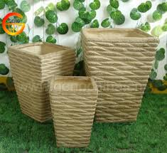 furniture container white tall pebble fiberglass planters for