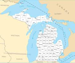 Mi Map Best Photos Of State Of Michigan County Map Michigan State