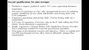 Insurance Agent Job Description For Resume Sales Manager Job Description Youtube