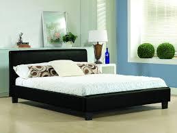 Black King Platform Bed Leather King Size Bed Frame Susan Decoration