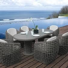 Rattan Patio Dining Set - skyline design dynasty 6 seat oval rattan garden dining set
