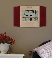 atomic wall clock with outdoor temperature by la crosse cherry