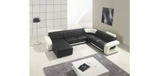Sectional Sofa Black Modern Black And White Leather U Shape Sectional Sofa T139