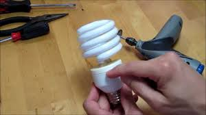 compact fluorescent light salvage youtube