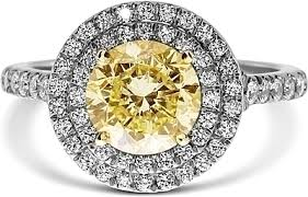 fancy yellow diamond engagement rings 1 67ct brilliant cut fancy yellow diamond engagement