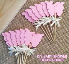 DIY Butterfly Cupcake Toppers Printable Baby shower