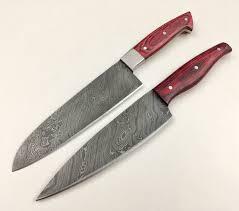 custom kitchen knives gbkn12 two damascus steel custom handmade kitchen chef knives 12