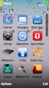themes of java iphone drops ios theme for s60v5 nokia 5800 5233 5230 500 n97