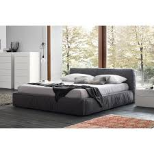 Fabric Platform Bed Rossetto Twist King Platform Bed In Gray Fabric For 2 295 00 In