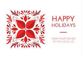 happy holidays company greeting postcard templates by canva