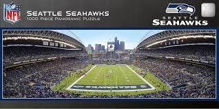 amazon com masterpieces nfl seattle seahawks 1000 piece stadium amazon com masterpieces nfl seattle seahawks 1000 piece stadium panoramic jigsaw puzzle toys games